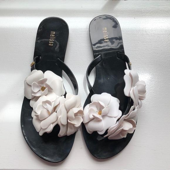 479692d4a5e93 NIB Melissa Harmonic Garden rubber sandals size 7